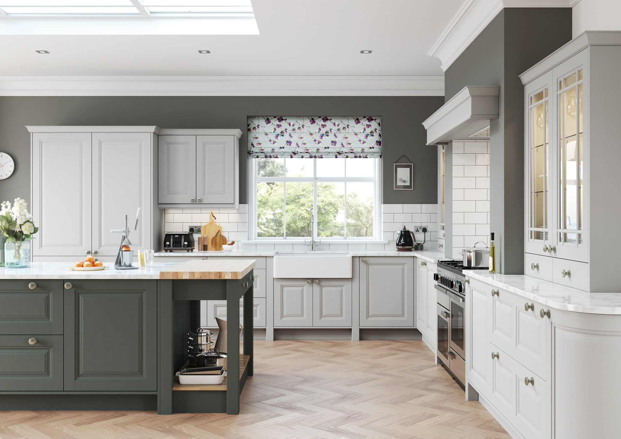 Amberley Gun Metal Grey Light Grey