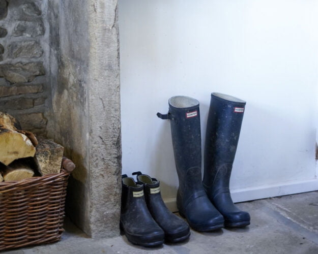 Practical 'bootility room' for 17th century countryside home